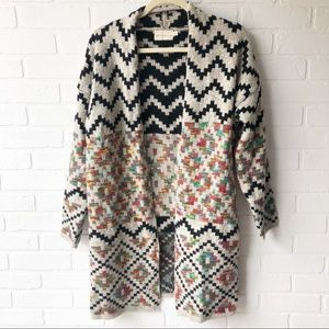 Dreamers Long Open Front Cardigan M/L
